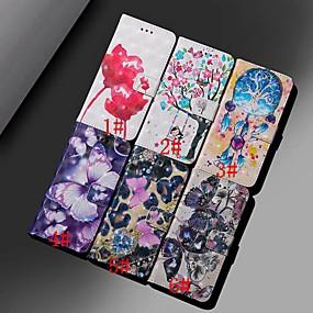 Недорогие Чехлы и кейсы для Huawei серии Y-Кейс для Назначение Huawei Huawei Nova 3i / Mate 10 / Mate 10 pro Кошелек / Бумажник для карт / Защита от удара Чехол Бабочка / Цветы Твердый Кожа PU