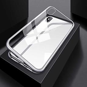 Недорогие Чехлы и кейсы для Galaxy Note 8-Кейс для Назначение SSamsung Galaxy S9 / S9 Plus / S8 Plus Прозрачный / Магнитный Чехол Однотонный / Прозрачный Алюминий