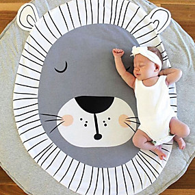 olcso Törülközők és köntösök-Dongguan fq1to_pewjrins oroszlán nyomtatás gyermekek csúszó szőnyeg játék pad külkereskedelem szőnyeg gyermek szoba dekoráció zsiráf 95cm