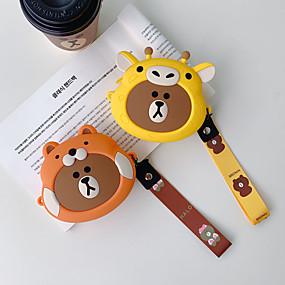 olcso Tokok-kézi érme pénztárca hordozható fejhallgató táska tároló táska aranyos rajzfilm szilikon zsinór