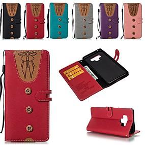 Недорогие Чехлы и кейсы для Galaxy Note 8-Кейс для Назначение SSamsung Galaxy Note 9 / Note 8 Бумажник для карт / Защита от удара / со стендом Чехол Геометрический рисунок Твердый холст