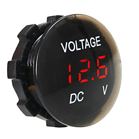cheap Car Chargers-DC12V Waterproof and Dustproof Voltmeter Digital Display for Truck Car Motorcycle SUV