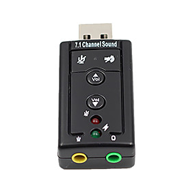 cheap Charging Plug-7.1 External USB Sound Card USB to Jack 3.5mm Headphone Audio Adapter