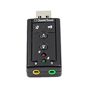 저렴한 충전 플러그-7.1 외부 usb 사운드 카드 usb 잭 3.5mm 헤드폰 오디오 어댑터
