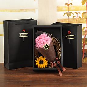 Χαμηλού Κόστους Τεχνητά λουλούδια-Ψεύτικα λουλούδια 7 Κλαδί Κλασσικό Λουλούδια Γάμου Μοντέρνα Γαρύφαλλο Αιώνια Λουλούδια Λουλούδι για Τραπέζι