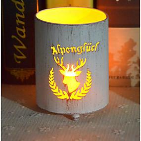 رخيصةأون Home Fragrances-جوفاء شمعة حامل شمعدان الإبداعية حفلة عيد الميلاد زخرفة غرفة المنزل حديقة مول متجر سطح المكتب الحلي