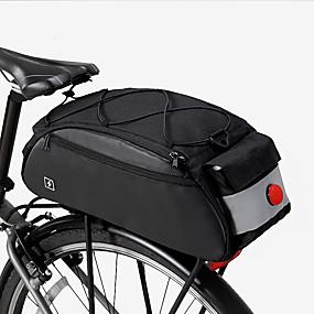 olcso Kerékpározás-10 L Túratáskák csomagtartóra Vízálló Hordozható Viselhető Kerékpáros táska 600D poliészter Kerékpáros táska Kerékpáros táska Kerékpározás Kerékpár