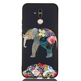 Недорогие Чехлы и кейсы для Huawei Honor-Кейс для Назначение Huawei Huawei Honor 10 / Honor 10 Lite / Huawei Honor 9 Lite Защита от удара / Матовое / С узором Кейс на заднюю панель Животное ТПУ
