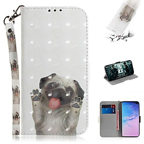 voordelige Galaxy S7 Hoesjes / covers-hoesje voor samsung galaxy s9 / s9 plus / s8 plus portemonnee / kaarthouder / schokbestendig full body hoes hond pu leer voor s10 / s10e / s10 plus / s9 plus / s7 / s7 edge