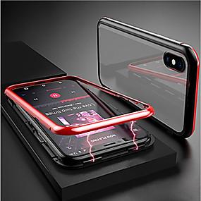 Недорогие Чехлы и кейсы для Huawei Mate-Кейс для Назначение Huawei Huawei Nova 4 / Huawei P20 / Huawei P20 Pro Магнитный Кейс на заднюю панель Прозрачный Алюминий