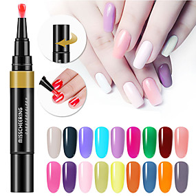 cheap Nail Care-24 Colors 3 In 1 Gel Nail Polish Pen Nail Art Tips UV Gel Varnish Hybrid One Step Sugar Nails Glue No Need Top Base Coat