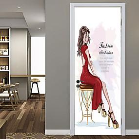 رخيصةأون ملصقات ديكور-ملصقات أزياء الجمال الباب الزخرفية للماء الباب صائق