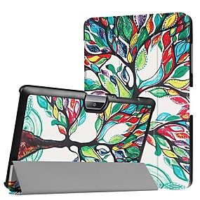 Недорогие Чехол для других планшетов-Кейс для Назначение Acer Acer Iconia One 10 B3-A30 / Acer Iconia One 10 A3-A40 Защита от удара / со стендом / Ультратонкий Чехол дерево Твердый Кожа PU