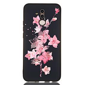 voordelige Huawei Honor hoesjes / covers-hoesje voor huawei honor 10 / honor 10 lite / honor 9 lite schokbestendig / frosted / patroon achterkant bloem tpu zacht voor huawei honor 8a / honor v9 spelen / mate 20 lite / mate 20 pro / mate 10