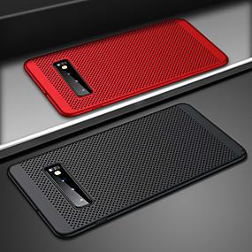 voordelige Galaxy S7 Edge Hoesjes / covers-ultraslanke telefoonhouder voor Samsung Galaxy s10 plus s10e s10 holle warmtedissipatie behuizingen harde pc voor samsung s9 plus s9 s8 plus s8 s7 rand s7 achterkant coque s10 plus