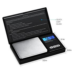 povoljno Digitalne vage-visoka preciznost nakit razmjera elektroničke razmjera 0,01 g mini elektronički razmjer prijenosni džep skala 0.01g - 200g / 0.01g