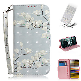 cheap Sony-Case For Sony Sony Xperia L3 / Sony Xperia 10 / Sony Xperia 10 Plus Wallet / Card Holder / with Stand Full Body Cases Flower PU Leather
