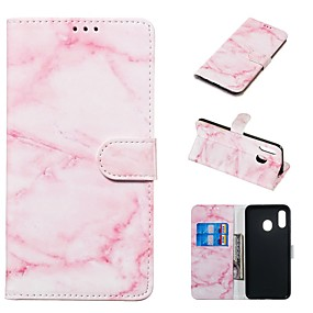 voordelige Galaxy A5(2016) Hoesjes / covers-koffer voor samsung galaxy a20e / a7 (2018) magnetisch / flip / met standaard bodyhoes marmer hard pu leer voor galaxy a9 (2018) / a10 / a30 / 20a / a40 / a70 / a9 2018 / a3 2016 / a5 2017 / a3 2017 /