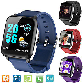 cheap Smart Watches-Smartwatch Digital Modern Style Sporty Silicone 30 m Water Resistant / Waterproof Heart Rate Monitor Bluetooth Digital Casual Outdoor - Black Purple Blue