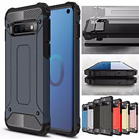 voordelige Galaxy S7 Edge Hoesjes / covers-Schokbestendig telefoonhoesje voor Samsung Galaxy s10 plus s10e s10 5g s10 rubber pantser hybride pc hard cover voor s9 plus s9 s8 plus s8 s7 rand s7 tpu case