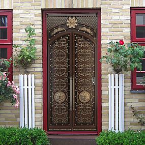 povoljno Ukrasne naljepnice-kreativni retro vrata naljepnice ukrasni vodootporna vrata decal dekor - ravnina zid naljepnice cvjetni / botanički / krajolik studija soba / ured / blagovaonica / kuhinja \ t
