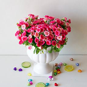 billige Kunstige blomster-1pc kunstig blomst 25 vild græs rose blomst falsk blomst hjem dekoration stue værelse gave placering