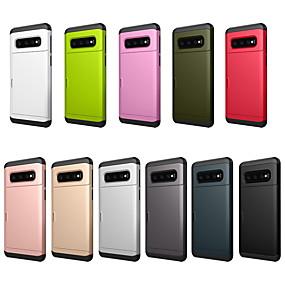 voordelige Galaxy S7 Edge Hoesjes / covers-case voor samsung galaxy galaxy s10 e / s8 schokbestendig / portemonnee / kaarthouder achterkant effen gekleurde harde pc voor galaxy s10 / galaxy s10 plus / galaxy s10 e