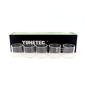 abordables Cigarrillo electrónico-Tubo de vidrio de bombilla de recambio yuhetec para la ingesta augvape rta 5pcs