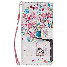 Недорогие Чехлы и кейсы для Galaxy Note 8-чехол для samsung galaxy note 9 / note 8 / galaxy note 10 кошелек / визитница / с подставкой для всего тела чехлы бабочка / дерево / цветок искусственная кожа для samsung galaxy note 10 plus