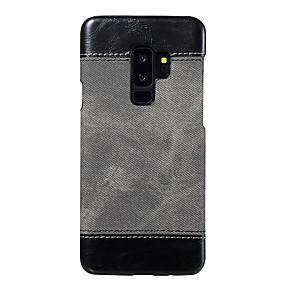 voordelige Galaxy S6 Edge Plus Hoesjes / covers-hoesje Voor Samsung Galaxy S9 / S9 Plus / S8 Plus Ultradun Achterkant Effen PU-nahka / PC