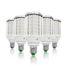 cheap LED Corn Lights-LOENDE 5pcs 30 W LED Corn Lights 3000 lm E26 / E27 T 108 LED Beads SMD 5730 Warm White White 85-265 V