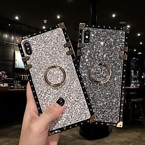 Недорогие Чехлы и кейсы для Galaxy Note 8-чехол для samsung galaxy s9 / s9 plus / s8 plus / s8 / s10 / s10 plus / s10e / note 8 / note 9 / m20 / m30 противоударный / держатель кольца / блестящий блеск задняя крышка небо / броня металлическая