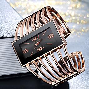 ieftine Cuarț ceasuri-Pentru femei femei Ceas Brățară ceas de aur Quartz Elegant Ceas Casual Analog Auriu / Alb Auriu+Negru Roz auriu / Un an / Oțel inoxidabil / Mare Dial / Un an