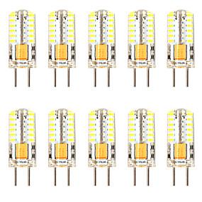 povoljno LED klipaste žarulje-10pcs 3 W LED klipaste žarulje LED svjetla s dvije iglice 300 lm GY6.35 T 48 LED zrnca SMD 3014 Zatamnjen New Design Toplo bijelo Bijela 12-24 V