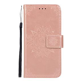 Недорогие Чехлы и кейсы для Galaxy Note 8-Кейс для Назначение SSamsung Galaxy Note 9 / Note 8 / Samsung Note 10 Бумажник для карт / со стендом / Флип Чехол Цветы Кожа PU