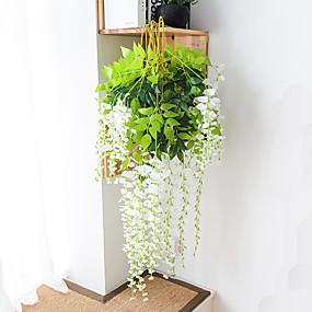levne Umělé květiny-umělá květina 1ks větev moderní moderní věčný květ zeď simulace květu vistérie květ továrna přímý fazole květ zeď zavěšení svatební oblouk dekorace květina svatební strop dekorace
