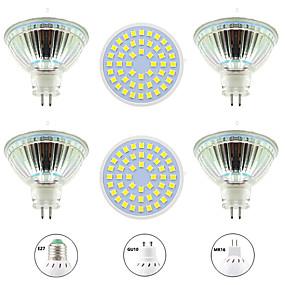 ieftine Spoturi LED-6pcs 4 W Spoturi LED 400 lm GU10 MR16 E26 / E27 48 LED-uri de margele SMD 2835 Model nou Alb Cald Alb 220-240 V 110-120 V
