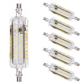 abordables Tubes LED-6pcs 10 W Ampoules Maïs LED Tubes Fluorescents 1000 lm R7S T 76 Perles LED SMD 2835 Design nouveau Blanc Chaud Blanc 220-240 V 110-120 V