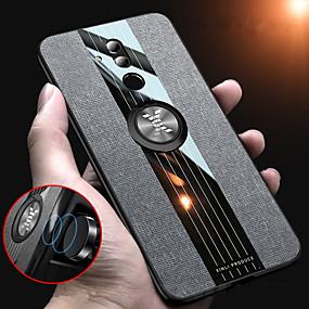 Недорогие Чехлы и кейсы для Huawei Mate-тканевый магнитный держатель кольца мягкая рамка тканевый чехол для huawei mate 20 pro mate 20 lite mate 20 mate 10 pro mate 10 силиконовый край тпу