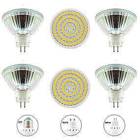 ieftine Spoturi LED-6pcs 8 W Spoturi LED 800 lm GU10 MR16 E26 / E27 80 LED-uri de margele SMD 2835 Model nou Alb Cald Alb 220-240 V 110-120 V