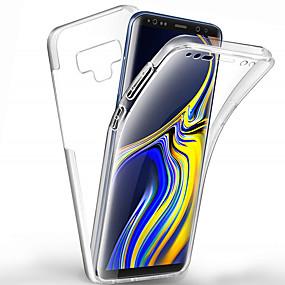 Недорогие Чехлы и кейсы для Galaxy Note 8-360 градусов всего тела чехол для Samsung Galaxy Note 10 плюс примечание 10 примечание 9 примечание 8 чехол прозрачный пк силиконовый тонкий гель тпу мягкий чехол