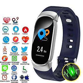 povoljno ženski digitalni satovi-Žene digitalni sat Šiljci za meso Formalno Style Moderna Silikon Crna / Plava / Pink 30 m Vodootpornost Bluetooth Smart Šiljci za meso Ležerne prilike Moda - Crn Blushing Pink Plava