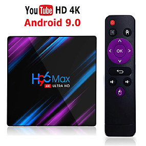abordables Déstockage-h96 max rk3318 smart tv box android 9.0 4gb ram 32gb 64gb 4k wifi media player google assistant vocal netflix youtube hdr bt4.0 usb 3.0 playplay play play set top box 2gb 16gb h96max