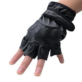 お買い得  オートバイ用手袋-自転車に乗るナイロン通気性の滑り止め抵抗マジックテープ付きハーフフィンガーグローブ