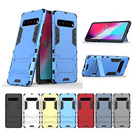 voordelige Galaxy S7 Edge Hoesjes / covers-hoesje voor samsung galaxy s10 s10 plus schokbestendig met standaard volledige behuizingen armor tpu pc s10e s9 s9 plus s8 s8 plus s7 s7 edge