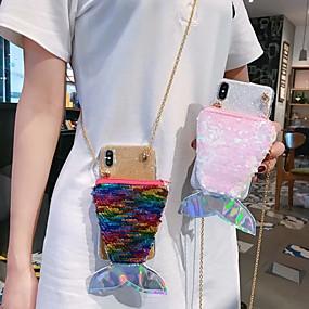 Недорогие Чехлы и кейсы для Galaxy Note 8-Кейс для Назначение SSamsung Galaxy S9 / S9 Plus / S8 Plus Кошелек / Бумажник для карт / Защита от удара Кейс на заднюю панель Сияние и блеск ТПУ