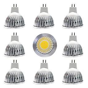 olcso LED szpotlámpák-9db 15 W LED szpotlámpák 300 lm MR16 MR16 1 LED gyöngyök COB Tompítható Új design Meleg fehér Fehér 12 V