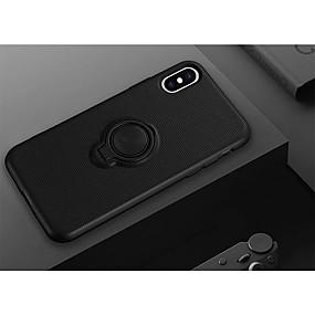 Недорогие Чехлы и кейсы для Galaxy Note 8-Кейс для Назначение SSamsung Galaxy S9 / S9 Plus / S8 Plus Кольца-держатели / Магнитный Кейс на заднюю панель Однотонный ТПУ / ПК