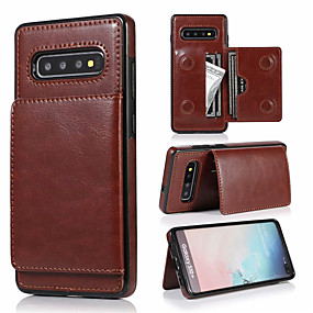 economico Galaxy Note 8 Custodie / cover-custodia in pelle retrò in pu per samsung galaxy s10 plus s10e s10 s9 plus s9 s8 plus s8 custodie per telefono multi card custodie per galaxy note 10 plus note 10 note 9 note 8 con supporto