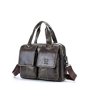 povoljno Muške torbe-(bullcaptain) muška kožna višenamjenska narukvica za muškarce torba gornji sloj od kože modna prijenosna aktovka